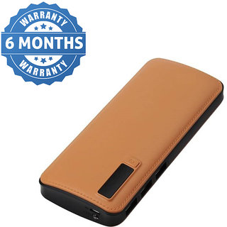 Omnitex ajay leather look high speed 15000 MaH Power Bank (brown)