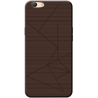 Professional Strip Back Cover For Oppo F3 - Brown
