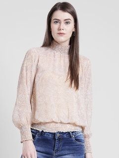 Yaadleen Chiffon Regular Pink Tops  For Women's /  Girl's