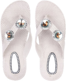 Czar Flip Flops Slipper for Women RO-01 Beige