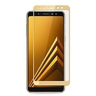 Samsung Galaxy A6  TEMPERED GLASS FULL GLUE GOLDEN