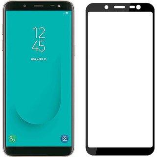 Samsung Galaxy J6  TEMPERED GLASS FULL GLUE BLACK