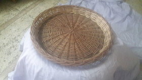 Cane Round Basket (20 inch) - All India Handicraft