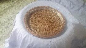 Cane Round Basket (16 Iinch) - All India Handicraft