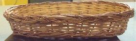 Cane Designer Fruit Oval Basket(2 Pcs Set) - All India Handicraft
