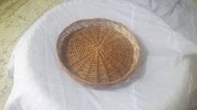 Cane Round Basket (12 Iinch) - All India Handicraft