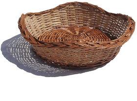 Round Kingri Cane Fruit Basket (2 Pcs Set)