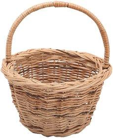 Round Cane Pooja Basket with Handle(2 Pcs Set)