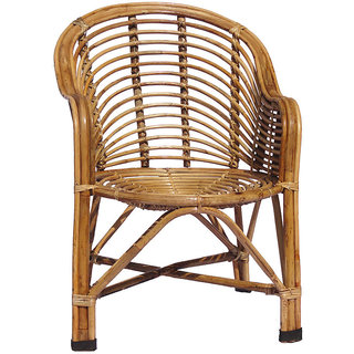 Cane Chair with Cushion  All India HandiCraft