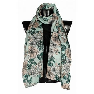 Bfly Womens Printed Poly Cotton Stole