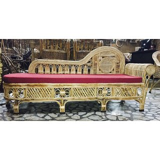 Cane Settee / Diwan with Cushion