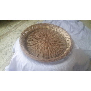 Cane Round Basket (20 inch) - All India Handicraft