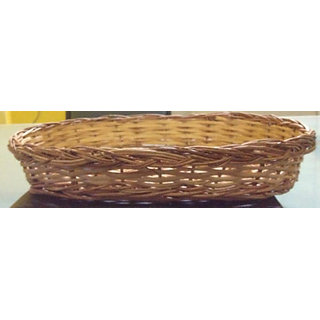 Cane Designer Fruit Oval Basket(2 Pcs Set) - All India Handicraft