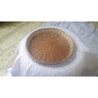 Cane Round Basket (18 Iinch) - All India Handicraft