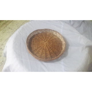 Cane Round Basket (12 Iinch) - All India Handicraft