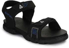 Feet Culture Men's Blue Nubuck Leather Casual Sandal