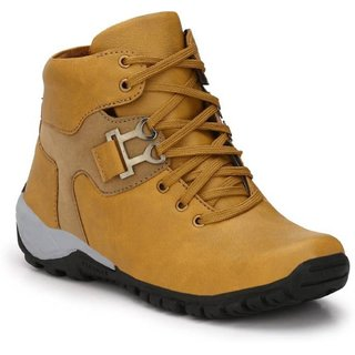 Axonza Men's Tan Synthetic leather Casual Boot
