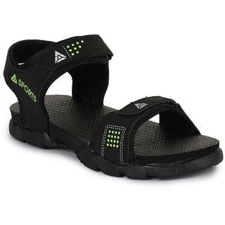 Feet Culture Men's Black Nubuck Leather Casual Sandal