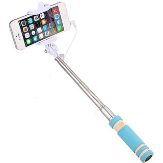 GA2Z Compact Selfie Stick Monopod Holder Compact Pocket Size Wired for All Android Mobiles  Intex cloud Flash
