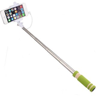 GA2Z Compact Selfie Stick Monopod Holder Compact Pocket Size Wired for All Model (iPhone and Android)