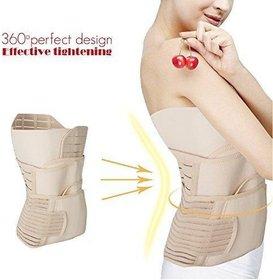 IMPORTIKAAH 3 in 1 Postpartum Support Recovery Belly Wrap Waist/Pelvis Belt Body Shaper Postnatal Shapewear - Medium
