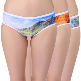 f906b0ff7e4e Buy Red Rose Womens Printed Multicoloured Panties (Pack of 3) Online - Get  0% Off