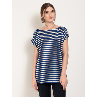 Abiti Bella Women's Rayon Stripe Top