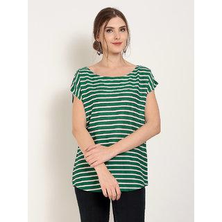 Abiti Bella Women's Rayon Stripe Top