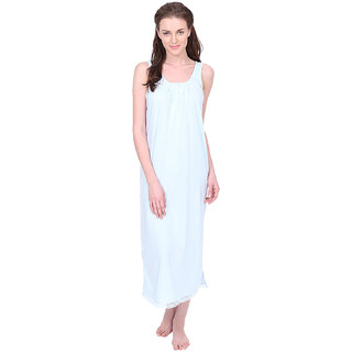 Buy Red Rose Womens Light Blue Cotton Nighty Online - Get 0% Off 8e81bb2b7