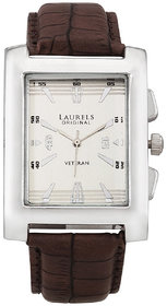 Laurels Silver Color Analog Men's Watch With Strap: LWM