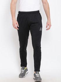 Reebok Black Polyester Lycra  Track pant