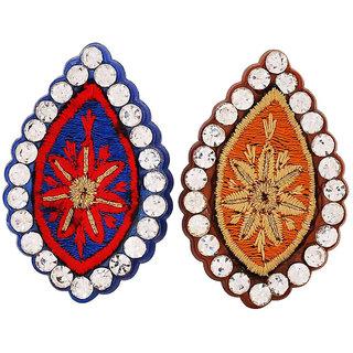 Maayra Multicolour Brooch combo Dailywear Saree pin Hand Woven Designer