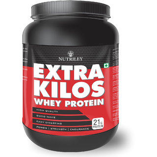Nutriley Extra Kilos - Body Weight / Muscle Gainer Whey Protein Supplement (500 Gms)-Vanilla
