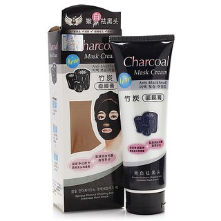 Bamboo Activated Charcoal Anti Blackhead, Pore Acne Deep Cleansing Suction Mask