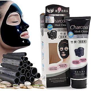 Bamboo Activated Charcoal Anti-Blackhead, Acne Deep Cleansing Suction Mask