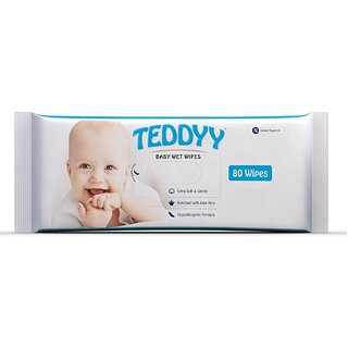 TEDDYY BABY WIPES 80 PCS --PACK OF 4