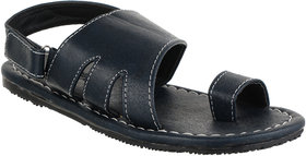 Quarks Men's Blue Faux Leather Casual Sandal