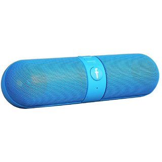 GA2Z Bluetooth Capsule Speaker Portable HD Audio with Pendrive/SD card Input Compatible With All Android Mobile Blue