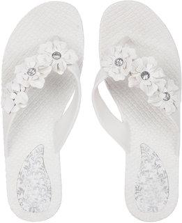 Czar Flip Flops Slipper for Women RO-03 White