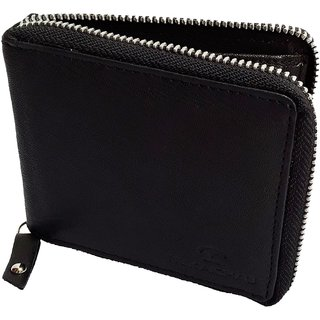 5d0f23d8e85 Buy NUKAICHAU Black Single Fold Men s Leather Wallet (93 zip blk 8 card  coin) Online - Get 45% Off