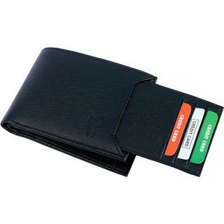 Insta New Black Card Men's Wallet (Synthetic leather/Rexine)