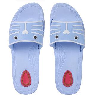 278eac26b0d90 Buy Czar Flip Flops Slipper for Women RO-09 Sky Blue Online - Get 72 ...