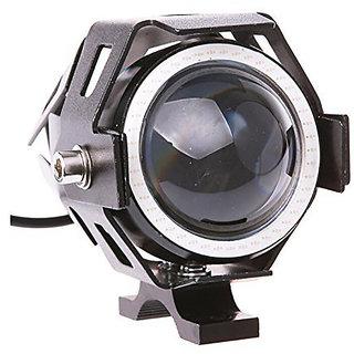 STAR SHINE U7 LED Fog Light Bike Driving DRL Fog Light Spotlight, High/Low Beam, Flashing-With Blue Angel Eyes Light Ring (Pack of 1) U 7 Led Fog Light Blue Angel Eye (Blue)  Free 1 PC Switch For Bajaj KB 4-S