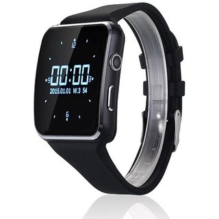 X6 BLUETOOTH SMART WATCH WITH SIM CARD SUPPORT FOR HIGH QUALITY CALLING AND WHATSAPP TOUCH SCREEN (BLACK)