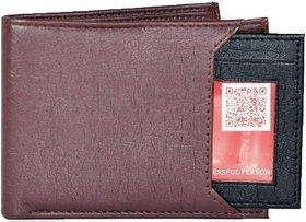 Fastrace Insta Brown  Black Card Men's Wallet