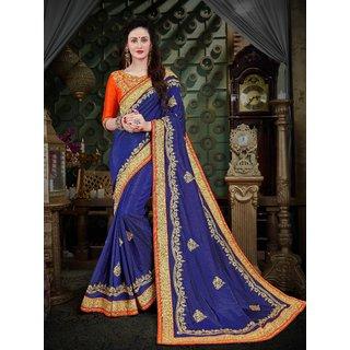Manohari Designer Blue Art Silk Saree