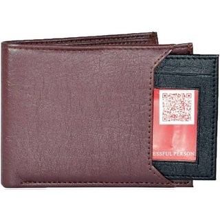 Fastrace Insta Brown  Black Card Men's Wallet (Synthetic leather/Rexine)