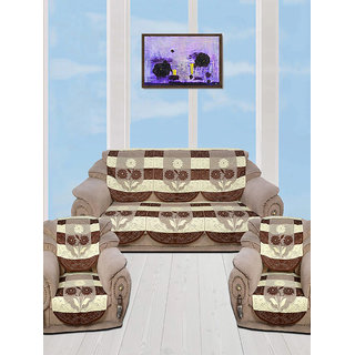 5 Seater kniting Sofa Cover Set -10 Pieces by vivek homesaaz