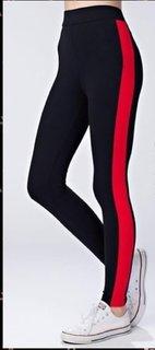Broad Red Stripe Stretchable Trendy  Legging / Jegging / Gym Wear / Yoga Wear /Sport's Wear