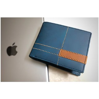 Fastrace Insta Blue stylish Wallet (Synthetic leather/Rexine)